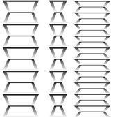 Figure geometric with gradient vector 3D. — Stock Vector