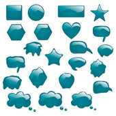 Set of bubbles icons symbols talk glossy speech thought — Stock Vector