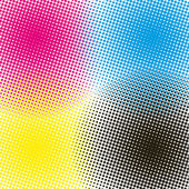 Halftone CMYK vector illustration background — Stock Vector