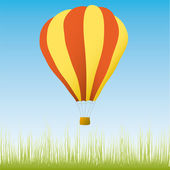 Hot air balloon in the blue sky — Stock Vector