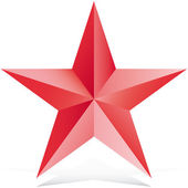 Red 3d star illustration vector — Stock Vector