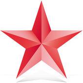 Vermelho 3d ilustração estrela vector — Vetor de Stock