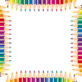 Pencils of different color for drawing, vector illustration — Stock Vector