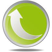 Vector illustration green environmental bubble on white — Stock Vector