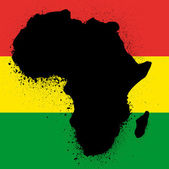 Grunge map with flag of african ink vector illustration — Stock Vector
