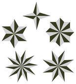 Nastavit 3d hvězda vektorové ilustrace — Stock vektor