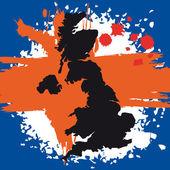 UK Flag vector illustration — Stock Vector