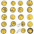 Royalty-Free Stock Vector Image: Vector basketball set comic cartoon illustration