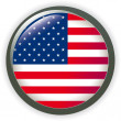 Royalty-Free Stock Vector Image: USA, shiny button flag vector illustration