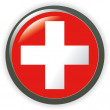 Switzerland, shiny button flag vector illustration — Imagen vectorial