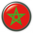 MOROCCO, shiny button flag vector illustration - Stock Vector