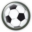 Royalty-Free Stock Vector Image: Football soccer background button vector illustration
