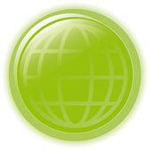 Burbuja de verde de la ilustración de vector globo en blanco — Vector de stock