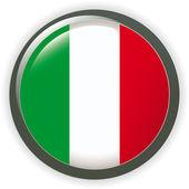 Orb ITALY Flag vector button illustration 3D — Stock Vector