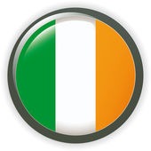 Orb IRELAND Flag vector button illustration 3D — Stok Vektör