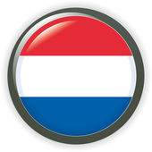 Orb Netherlands Flag vector button illustration 3D — Stock Vector