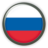 Orb RUSSIA Flag vector button illustration 3D — Stock Vector