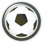 Football soccer background button vector illustration — Vettoriale Stock