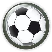 Football soccer background button vector illustration — Stock Vector