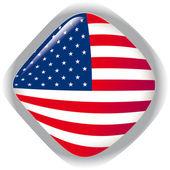 USA, shiny button flag vector illustration — Stock Vector