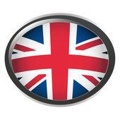 Orb UK Flag vector button illustration 3D — Stock Vector