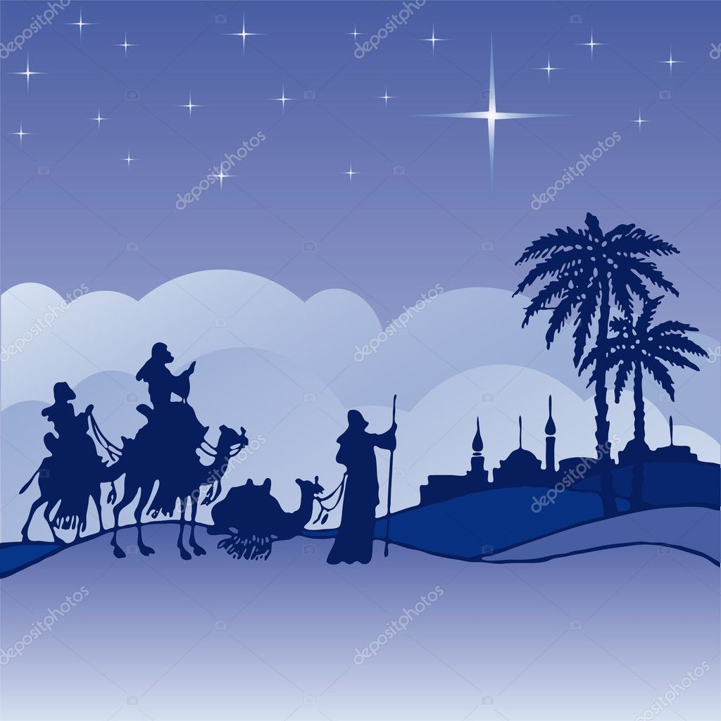 Wise Men Silhouette Wisemen silhouette cartoon