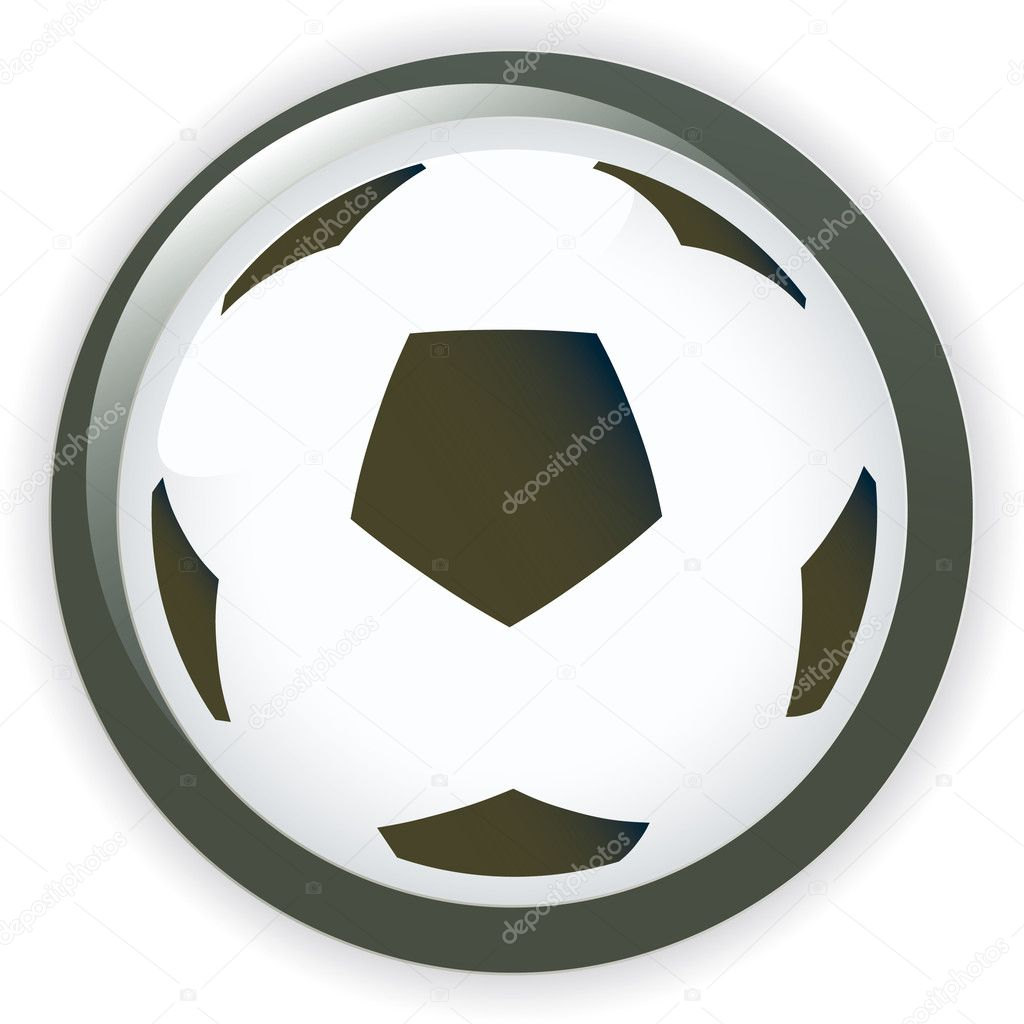 Football soccer background button vector illustration — Stock Vector #3285027
