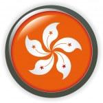 Hong Kong, shiny button flag vector illustration — Stock Vector #3318270