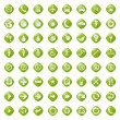 64 presentation buttons icons symbol web eco. — Stock Vector