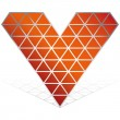 3D red heart vector icon isolated — Stock Vector