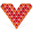 3D red heart vector icon isolated — Stock Vector #3319503
