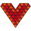 3D red heart vector icon isolated — Stock Vector #3319512