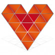 3D red heart vector icon isolated — Stock Vector #3319532