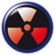 Vector. radioactive sign symbol icon — Stock Vector