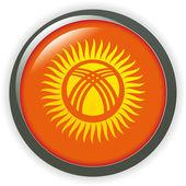 Flag button series of all sovereign countries - Kyrgyzstan — Stock Vector