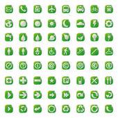 64 ícones de botões de apresentação do símbolo eco web. — Vetor de Stock