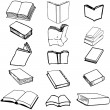 Royalty-Free Stock Vector Image: Books on isolated background, vector illustration, EPS file included