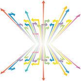 Vector illustration with arrows colours — Stockvektor