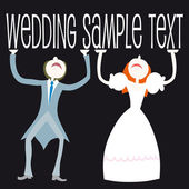Vector Illustration: wedding set - couple standing — Stock Vector
