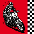 Moto motocycle retro vintage classic vector illustration — Vettoriali Stock