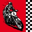 Moto motocycle retro vintage classic vector illustration — Imagen vectorial