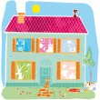 Home house vector cartoon illustration — Stock Vector