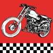 Moto motocycle retro vintage classic vector illustration — Stock Vector