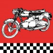 Moto motocycle retro vintage classic vector illustration — Stock Vector #3405938