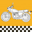 Moto motocycle retro vintage classic vector illustration - Stockvectorbeeld