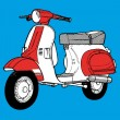 Scooter vector illustration — Stock Vector #3406063