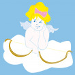 Royalty-Free Stock Vector Image: Angel Cupid, vector illustration