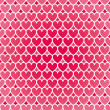 Illustration of a pink heart pattern background — Stock Vector