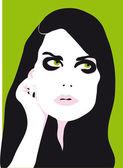 Woman face eyes vector illustration — Stock Vector