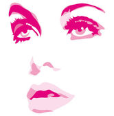 Woman face eyes vector illustration — Stock Vector